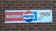BR26 Pepsi Suzuki Racing Banner RGV250 RG125 GSXR Schwantz Garaje Taller Señal