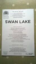 'Swan Lake.' Royal Opera House. 15 June 2018. Castbook. Natalia Osipova.