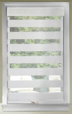 Linen Cordless Window Roller Shades Celestial Sheer Double-Layered Roman Shade