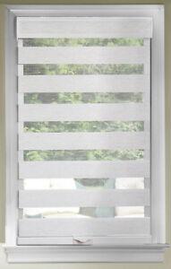 Linen Cordless Window Roller Shades Celestial Sheer Double-Layered Roman Shade
