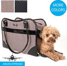 Exquisite Designer Fashion Travel Pet Dog or Cat Carrier Tote Bag Purse
