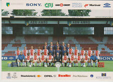 Postcard / Teampicture Ajax Amsterdam 1994-1995 with signatures