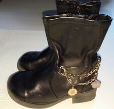 Hello Kitty Girl's Black Chains Charms Fashion Boots Shoes Sanrio Size 10 Childs