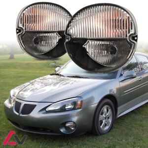 04-08 For Pontiac Grand Prix Clear Lens Pair Bumper Fog Light OE Replacement DOT
