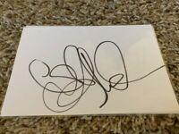 Abbie Cornish - Signed Index Card Autograph