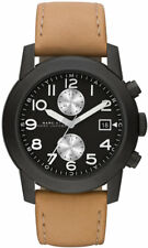 "NEW Marc By Marc Jacob Mens ""Larry"" Tan Leather Band Strap Subdial Watch MBM5053"