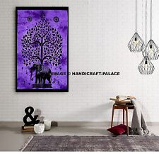 "Elephant Tree of Life Decorative Cotton Tapestry Throw Wall Hanging 40""X30"" Inch"