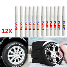 Universal Waterproof Permanent Paint Marker Pen Car Tyre Tire Tread Rubber 12Pcs