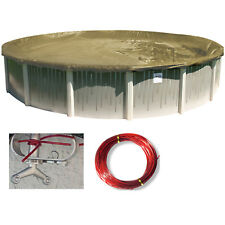 HPI 24' Round ARMORKOTE Above Ground Swimming Pool Winter Cover - Made in USA