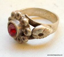 vintage antique tribal old silver ring gypsy hippie rajasthan india