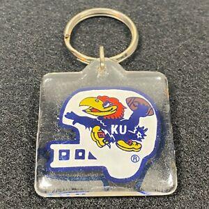 Vintage Kansas Jayhawks Football Helmet Logo Keychain