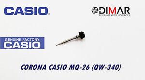 Casio Krone / Uhren Crown, Für Modelos. MQ-26, (QW-340), Schwarz