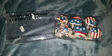 Primitive Patriotic Red White & Blue Star Shower Curtain Hooks country bath nip