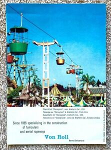 Rare Vintage Von Roll of Switzerland Brochure Disneyland Skyway Over Fantasyland