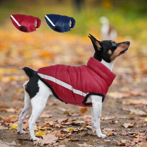 Waterproof Small Medium Dogs Winter Clothes Reflective Pet Fleece Jacket Coat