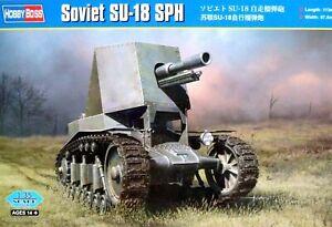 Hobbyboss 1:35 SU-18 SPH Soviet Self Propelled Howitzer Vehicle Model Kit