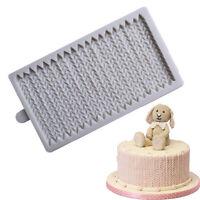 Edible Knit Rope Silicone Mold Gum Paste Fondant Mold Cake Ruffle Border Decor