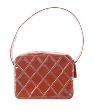 Chanel Red Patent Leather Shoulder Bag