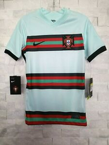 NIKE 2020-21 PORTUGAL YOUTH AWAY JERSEY (CD1038-336) TEAL-BLACK-RED