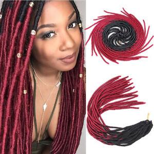 "20"" Ombre Faux Locs Twist Braids Crochet Hair Extensions Synthetic Dreadlocks"