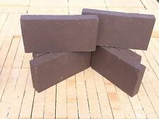 "Six 6 (Split) Fire Bricks / Firebricks ""Dark Brown"" ( 9"" x 4-1/2"" x 1-1/4"")"