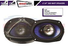"PAIR OF 6"" X 9"" 350 WATT 3 WAY COAXIAL CAR AUDIO SPEAKERS 350W OVAL 6 X 9 INCH"