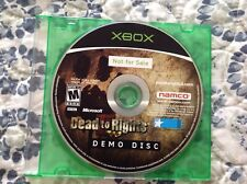 Xbox Promotional Demo Dead To Rights
