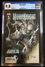 Moon Knight # 1 CGC 9.8 1st Dr Badr & Cameo as Hunter's Moon Marvel 2021 Cover A