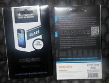New Gadget Guard Termpered Glass Screen Guard  For HTC M8  Black Edition 2 Pack