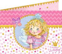 8 Biglietti D'Invito e Buste Prinzessin Lillifee 13630 Carta spiegelburg