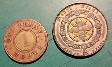 More details for 1848 queen victoria model crown  h- hyams and model  (penny 1800s) #157