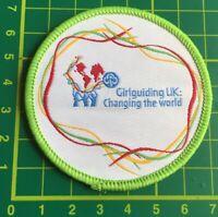 Girlguiding UK: Changing The World Badge.  Sew On blankets Camp