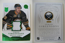 2013-14 Panini Dominion Zemgus Girgensons 4/5 RC patch green Rookie LATVIA