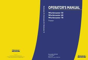 NEW HOLLAND WORKMASTER 50 WORKMASTER 60 WORKMASTER 70 TRACTOR OPERATOR`S MANUAL
