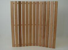 Wellnessmatte Zedernholz Holzmatte 60 x 60cm Badvorleger Saunamatte Badematte