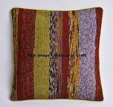 Cotton Indian Stripe Home Ottoman Cushion Cover Sofa Pillow Case Throw Decor Art