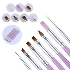 7Pcs/Set  Nail Art Pen Tips UV Builder Gel Painting Drawing Brush Manicure Set