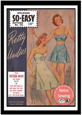 Sujetador 1940s, Braga y Petticoat patrón de costura-Reproducción