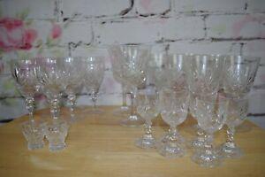 Job Lot of Crystal Glasses Wine Glasses Port glasses x 22 glasses