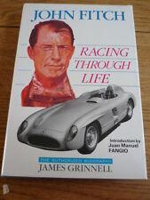 JOHN FITCH - RACING THROUGH LIFE MOTOR RACING BOOK jm