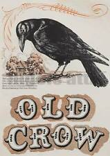 OLD CROW   WHISKEY   A4  VINTAGE  PRINTED  POSTER