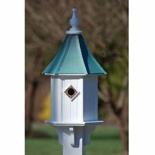 """FANCY HOME PRODUCTS BLUE BIRD HOUSE PATINA COPPER 10"""""""