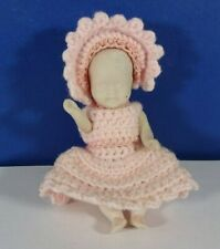 """Unbranded? Bisque Doll with Hat & Moveable Arms and Legs 3 3/4"""""""