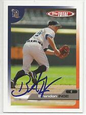 BRANDON INGE Autographed Signed 2005 Topps Total card Detroit Tigers COA
