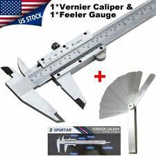 Vernier Caliper Stainless Steel Inch Millimeter Feeler Gauge Diy Measuring Tool