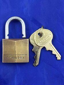 Master Lock Padlock 30 mm wide Model No. 130 Solid Brass Body x 6