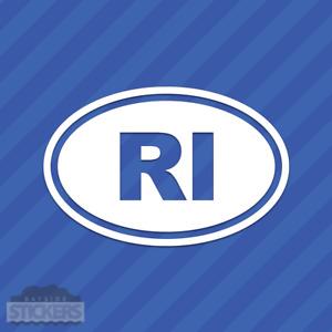 Rhode Island RI Oval Vinyl Decal Sticker