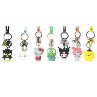 Badtz-Maru Cinnamoroll Hello Kitty Keroppi Kuromi My Melody Pompom Keychain Set