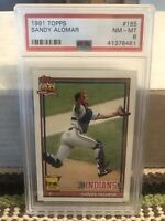 1991 Topps Sandy Alomar - All-Star Rookie Cup - Cleveland Indians PSA 8