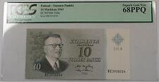 1963 Finland Suomen Pankki 10 Markkaa Note SCWPM#104a PCGS 68 PPQ Superb Gem New